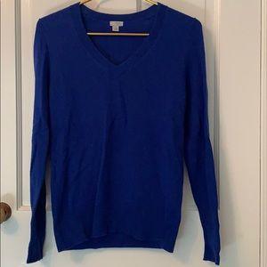 Blue vneck cashmere sweater